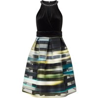 Ariella Sia Striped Organza Prom, Green