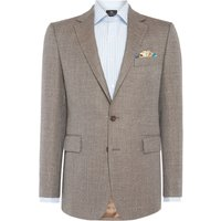 Mens Chester Barrie Textured Albemarle Jacket, Brown