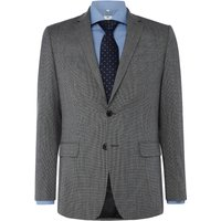 Mens Richard James Mayfair Puppytooth Frederick Suit Jacket, Mid Grey