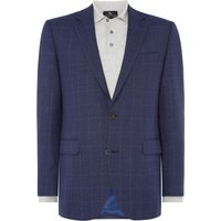 Mens Chester Barrie Check Hopsack Jacket, Blue