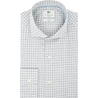 Mens Richard James Mayfair Melange Check Slim Fit Shirt, Grey