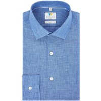 Mens Richard James Mayfair Linen Slim Fit Shirt, Blue
