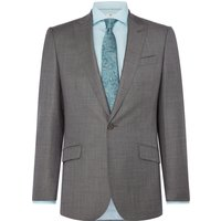 Mens Richard James Mayfair Sharkskin Daniel Suit Jacket, Grey