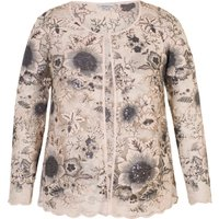 Chesca Sequin & Embroidered Mesh Jacket, Pink
