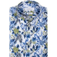 Men's Limehaus White Hawaiian Print Short Sleeve Shirt, White - Hawaiian Gifts