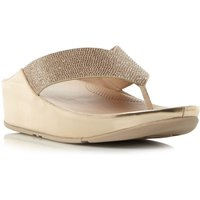 FitFlop Crystall toe post sandals, Rose Gold