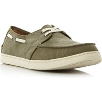 Toms Culver linen boat shoe, Green