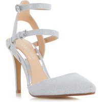 Head Over Heels Cadi strappy pointed court shoes, Silver