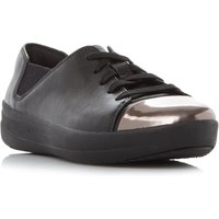 FitFlop F-Sporty Mirror Mirror Toe Trainers, Black