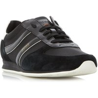 Hugo Boss Orland runn double stripe trainers, Jet Black