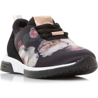 Ted Baker Cepap Printed Lace Up Trainers, Black