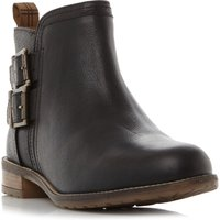 Barbour Sarah Low Double Buckle Ankle Boots, Black