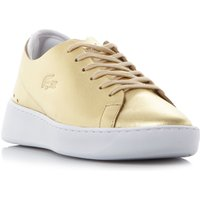 Lacoste Eyyla Wedge Cupsole Trainers, Gold
