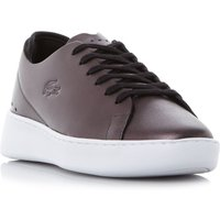 Lacoste Eyyla Wedge Cupsole Trainers, Black Leather