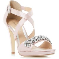 Head Over Heels Maisy Jewelled Strap Sandals, Nude