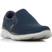 Skechers Equalizer Double Mesh Slip On Trainers, Blue
