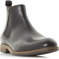 Dune Cameo Plain Round Toe Chelsea Boots, Black - Chelsea Gifts