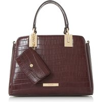 Dune Dinidillier small inverted gusset bag, Berry