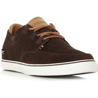 Lacoste Esparre Deck Vulcanised Deck Shoes, Dark Brown