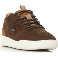 Lacoste Explorateur Perforated Nubuck Trainers, Brown