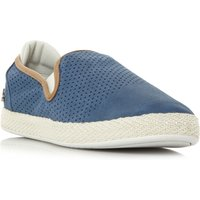 Lacoste Tombre Suede Perf Slip On Trainers, Blue