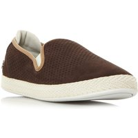 Lacoste Tombre Suede Perf Slip On Trainers, Dark Brown