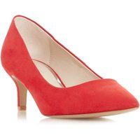 Head Over Heels Annabel Low Kitten Heel Pointed Court Shoes, Red