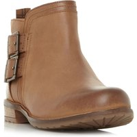 Barbour Sarah Low Double Buckle Ankle Boots, Tan