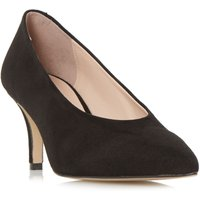 Dune Amorrell High Vamp V-Cut Court Shoes, Black
