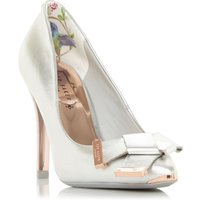 Ted Baker Ayelar Twist Bow Court Shoes, Silver
