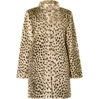 Damsel in a Dress Carter Leopard Fur Coat, Cream