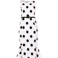 Damsel in a Dress Lillia Spot Dress, White
