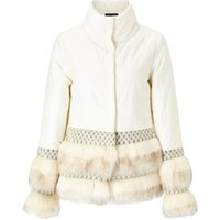 James Lakeland Faux Fur Puffer Coat, Cream