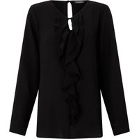 James Lakeland Frill Crepe Blouse, Black
