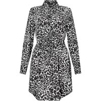 James Lakeland Animal Print Shirt Dress, Black