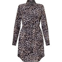 James Lakeland Animal Print Shirt Dress, White