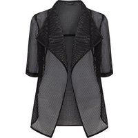 James Lakeland Net Waterfall Jacket, Black
