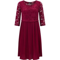 James Lakeland Pleated Lace Dress, Red