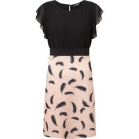 James Lakeland Feather Print Dress, Black