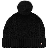 Ted Baker Kyliee Cable Knit Wool-Blend Bobble Hat, Black