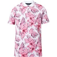 Men's Ted Baker Course Ss Floral Print Golf Polo, Pink