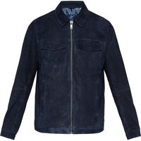 Mens Ted Baker Nusuede Suede Harrington Jacket, Blue