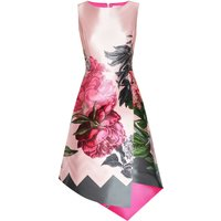 Ted Baker Joyclyn Palace Gardens Asymmetric Dress, Grey