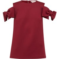 Ted Baker Mendoll Bow Sleeve Cold Shoulder Top, Maroon