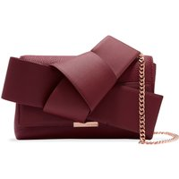 Ted Baker Agentah Knot Bow Leather Cross Body Bag, Maroon