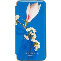 Ted Baker Bryony Harmony Iphone 8 Mirrored Book Case, Bright Blue