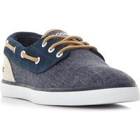 Lacoste Jouer Chambray Deck Boat Shoes, Blue