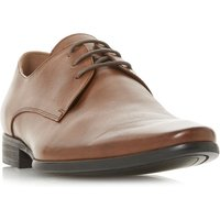 Dune Petrov Plain Almond Toe Gibson Shoes, Tan