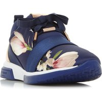 Ted Baker Cepap Printed Lace Up Trainers, Blue