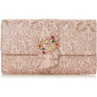 Dune Biijou Foldover Clutch Bag, Rose Gold